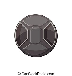 Cover on lens camera icon, cartoon style - Cover on lens...