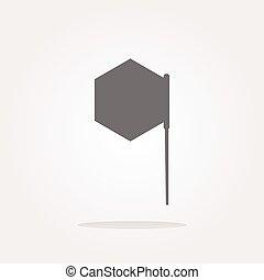 vector flag sign web button icon