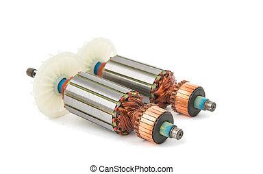 eléctrico, motor, rotor,