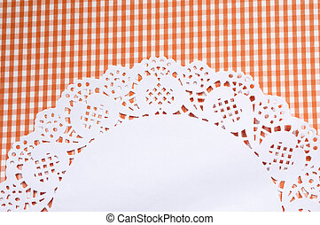 Cute background with a napkin - A cute vichy background with...