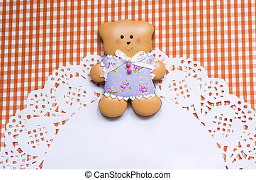 Cute background with bear - A cute vichy background with...