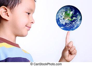 bambino, Terra