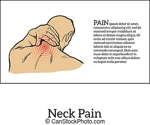 Pain in the neck of a man