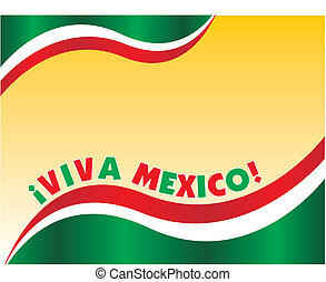 Viva Mexico - Ad Layout with mexican flag colors and note...