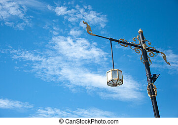 Street Lamp PoleThai Art - A street light, light pole,...