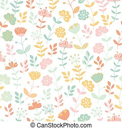 seamless floral pattern - Light seamless floral pattern with...