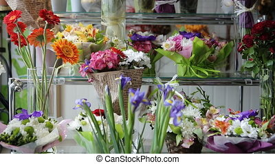 Flower boutique with incredibly beautiful bouquets.