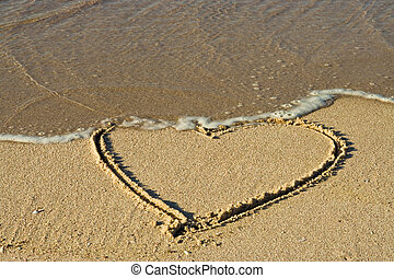 heart in sand - Herz im Sand, heart in sand