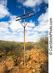 Old Telegraph Pole - A view of the old Telegraph route near...