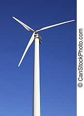 Windmill - A windmill in a perfect sunny blue sky day