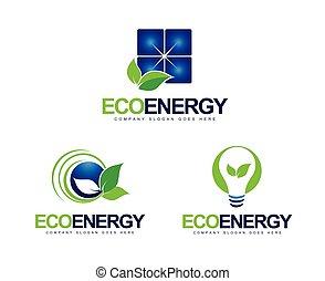 Green Energy Logo. Creative vector logo design with green...