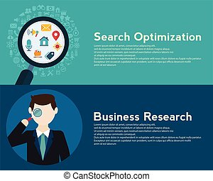 Search Engine Optimization programming business up trend statistics flat design style. Link between information system strategy and business strategy