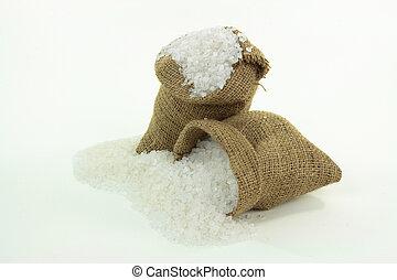 Rock crushed Salt.