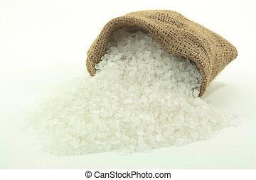 Spilled Rock Salt.