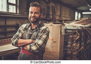 Trabajo, el suyo, carpintero, taller, Carpintería