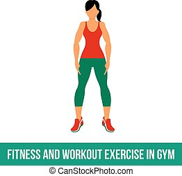 Aerobic icons - Fitness, Aerobic and workout exercise in...