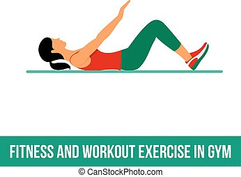 Aerobic icons. full color 26 - Fitness, Aerobic and workout...