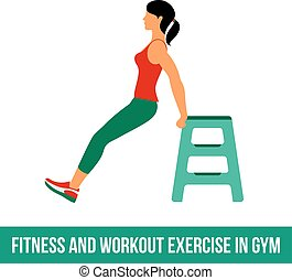 Aerobic icons. full color 29 - Fitness, Aerobic and workout...