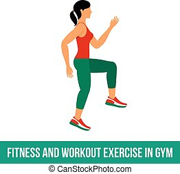 Aerobic icons full color 31 - Fitness, Aerobic and workout...