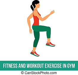 Aerobic icons full color 32 - Fitness, Aerobic and workout...