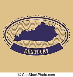 Kentucky map silhouette