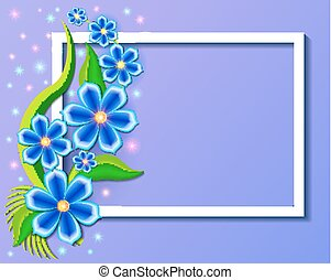illustration background with beautiful paper-cut flowers....