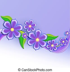 illustration background with beautiful paper-cut flowers...