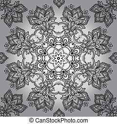 Lace vector design. Ornamental lace pattern, circle...