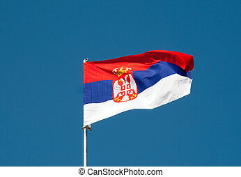 Russian flag - current one with the double head eagle.
