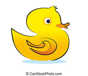 yellow rubber duck illustration from the side