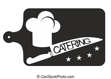 catering symbol template - toque and knife as a sign for...