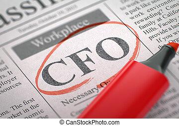 Job Opening CFO. - CFO - Jobs Section Vacancy in Newspaper,...
