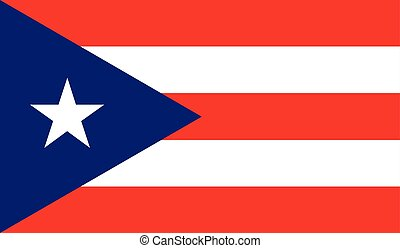 Puerto Rico flag image for any design in simple style