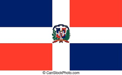 Dominican Republic flag image for any design in simple style