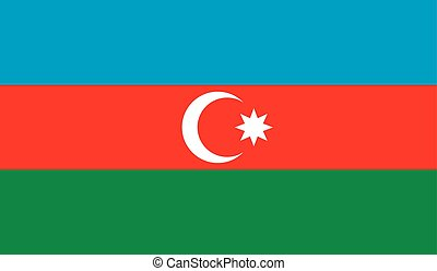 Azerbaijan flag image for any design in simple style
