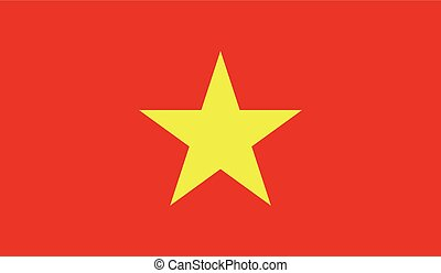 Vietnam flag image for any design in simple style