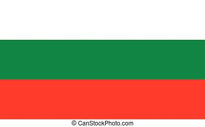 Bulgaria flag image for any design in simple style