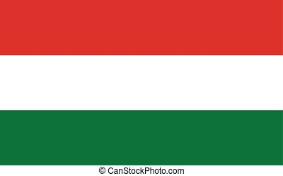 Hungary flag image for any design in simple style