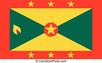 Grenada flag image for any design in simple style