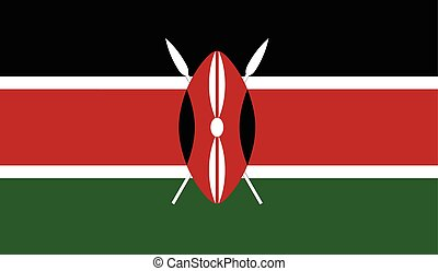 Kenya flag image for any design in simple style