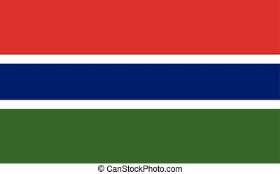 Gambia flag image for any design in simple style
