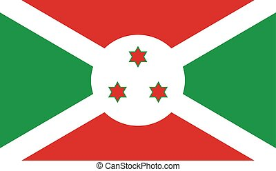 Burundi flag image for any design in simple style