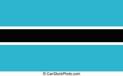 Botswana flag image for any design in simple style