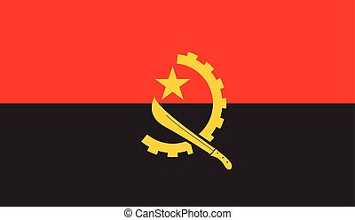 Angola flag image for any design in simple style