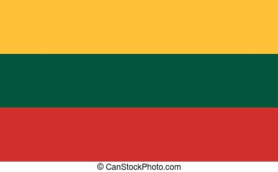 Lithuania flag image for any design in simple style