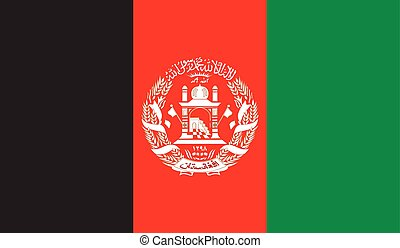 Afghanistan flag image for any design in simple style