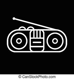 Old Cassette Player - Old cassette player line art vector...