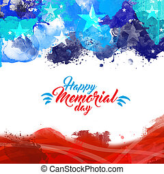 Memorial Day - Abstract illustration with the lettering...