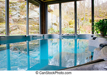 Indoor Pool - Photo of a newly installed indoor pool....