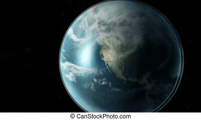 Earth animation an space